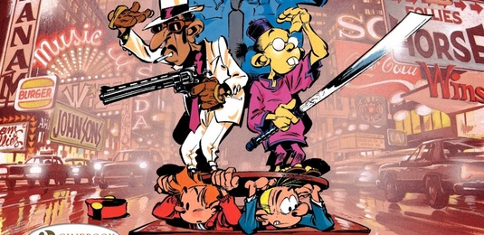 Spirou and Fantasio in New York cover detail