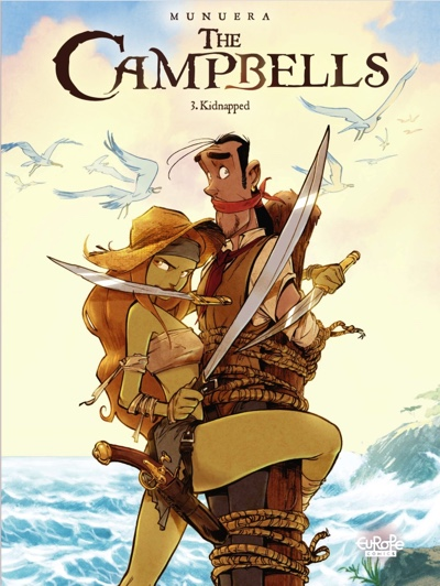 """The Campbell by Jose-Luis Munuera volume 3: """"Kidnapped"""" cover"""