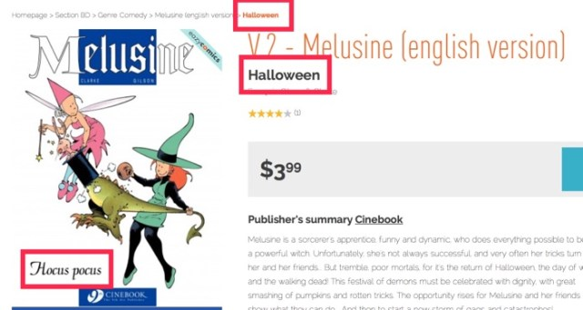 "Is Melusine v2 ""Hocus Pocus"" or ""Halloween""? Izneo doesn't know."