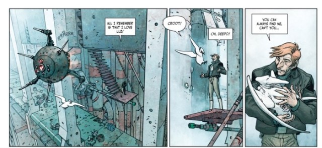 In Final Incal v2, John Difool has a pet flying thingy
