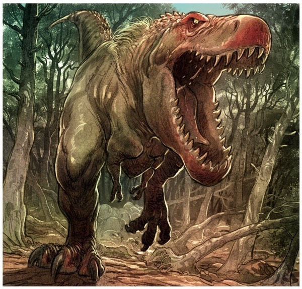 Love the Dinosaur panel excerpt of a t. rex