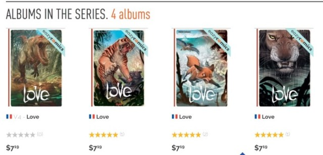 Izneo sells the Love series in French