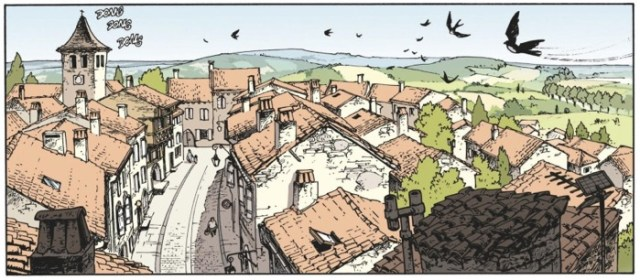 Cauuet draws an imperfect townscape, and it looks great, but slightly on edge