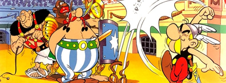 Asterix the Gladiator cover detail