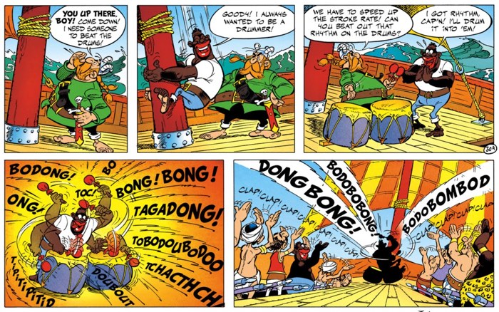 Uderzo's stereotypical humor doesn't age well at all.
