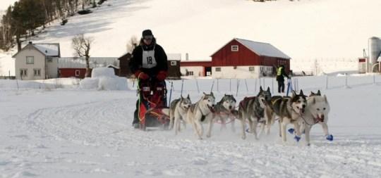 Runar og gjengen inn mot mål dag 1. Foto. Ole Dag Løvvold