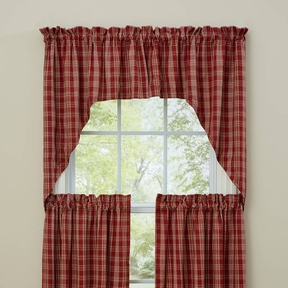 Country Style Curtains Barnside Lined Swags