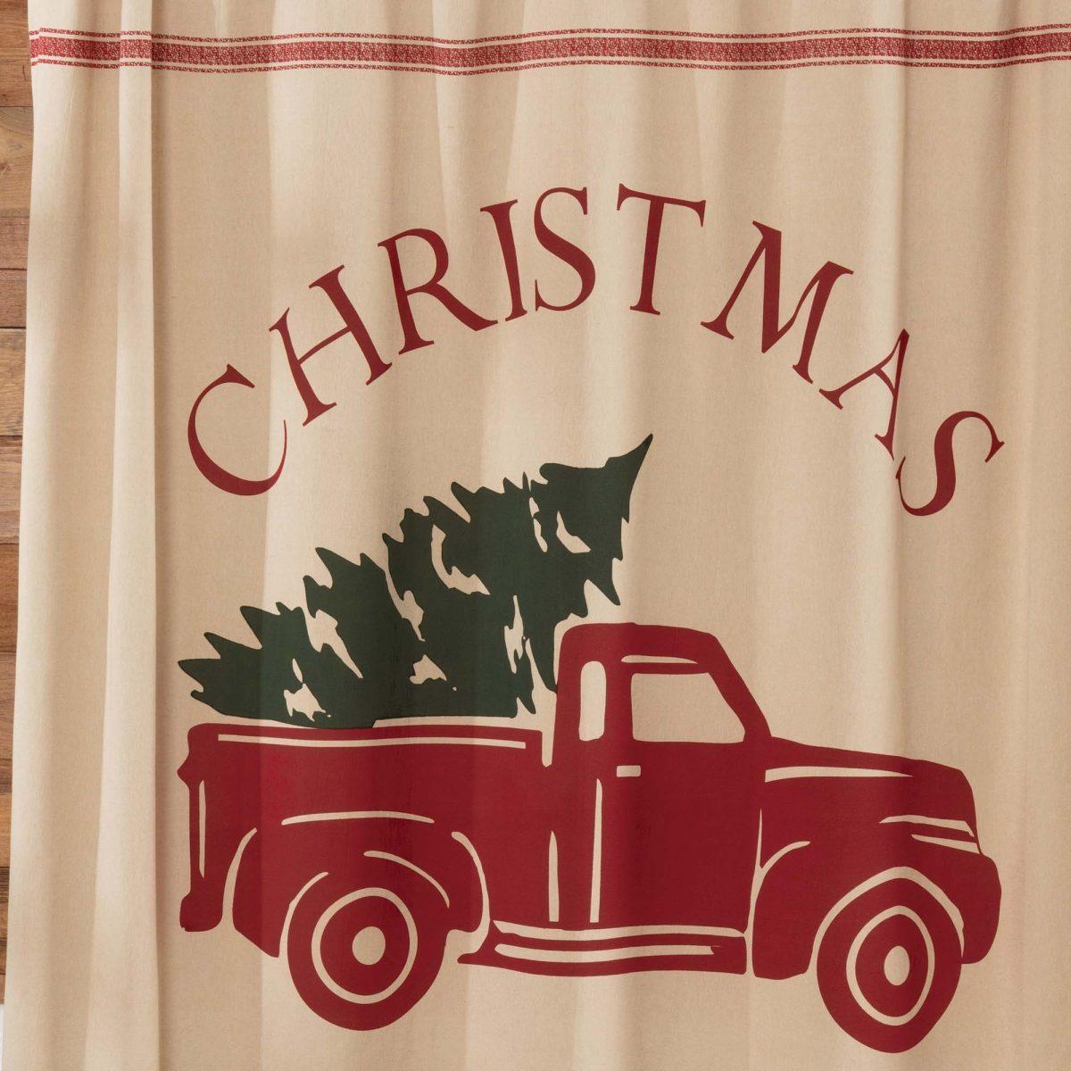 christmas tree farm printed shower curtain