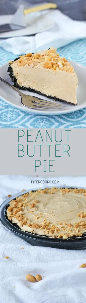Creamy peanut butter pie with a chocolate crust - PiperCooks