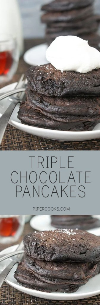 Triple chocolate pancakes PiperCooks