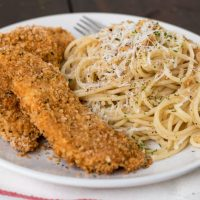 Chicken Strips with Panko Crumbs and Smoked Paprika