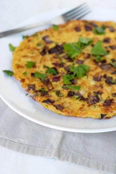 Potato Pancake with mozzarella and onions _ PiperCooks