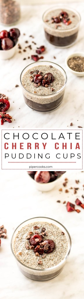 Chocolate Cherry Chia Pudding Cups   Recipe by Pipercooks