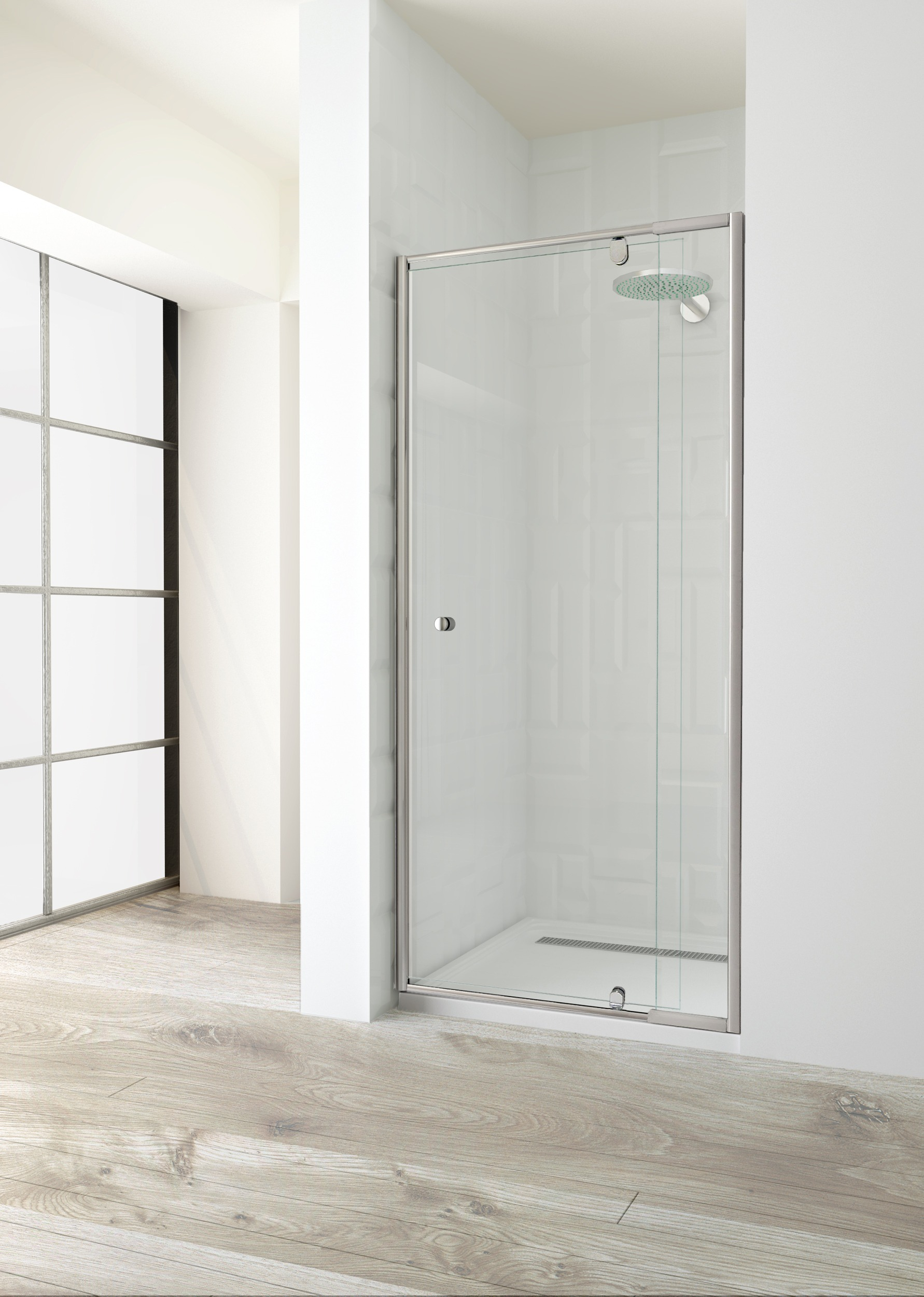 600 Front Pivot Door 1850h Elfreda Suite Shower Screen