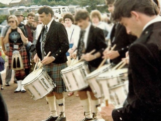 Tom Brown awarded MBE for services to pipe band drumming