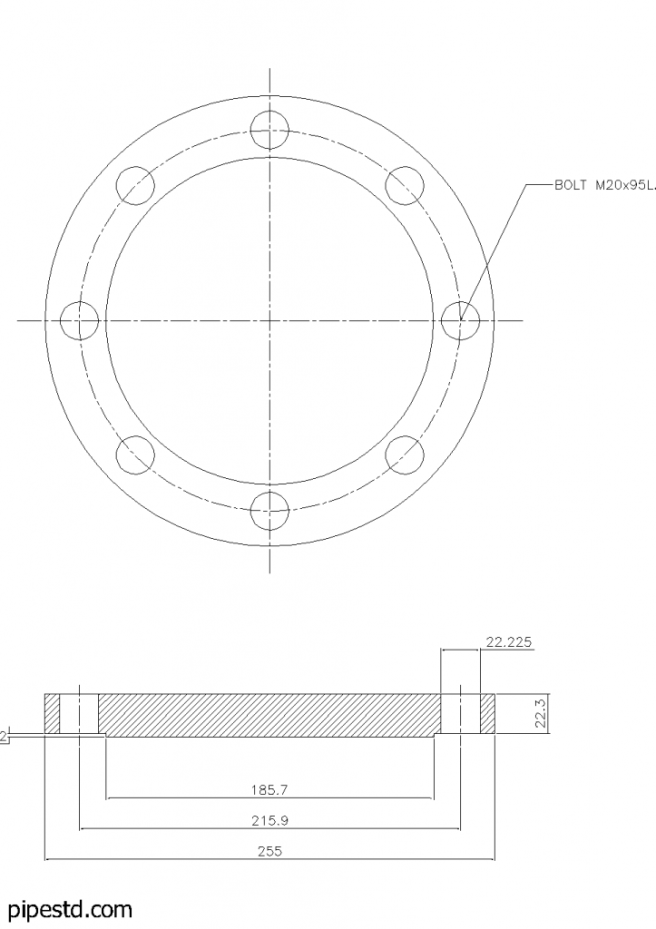 Blind Flange 5 Inch Class 150