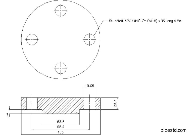 Blind Flange 1 1/4 Inch Class 600