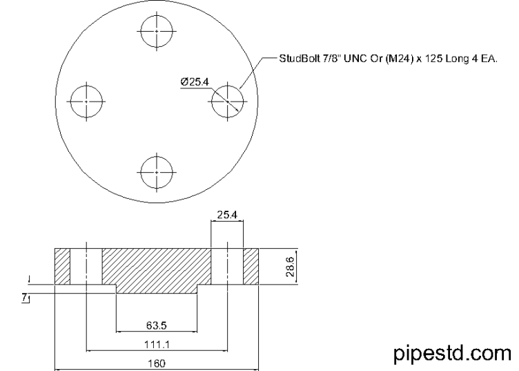 Blind Flange 1 1/4 Inch Class 900