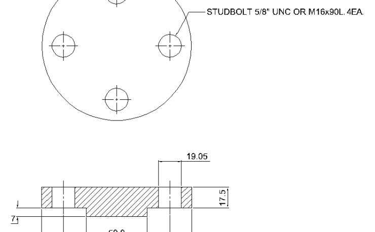Blind Flange 1 Inch Class 400