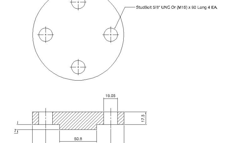 Blind Flange 1 Inch Class 600