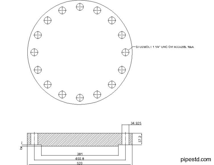 Blind Flange 12 Inch Class 400