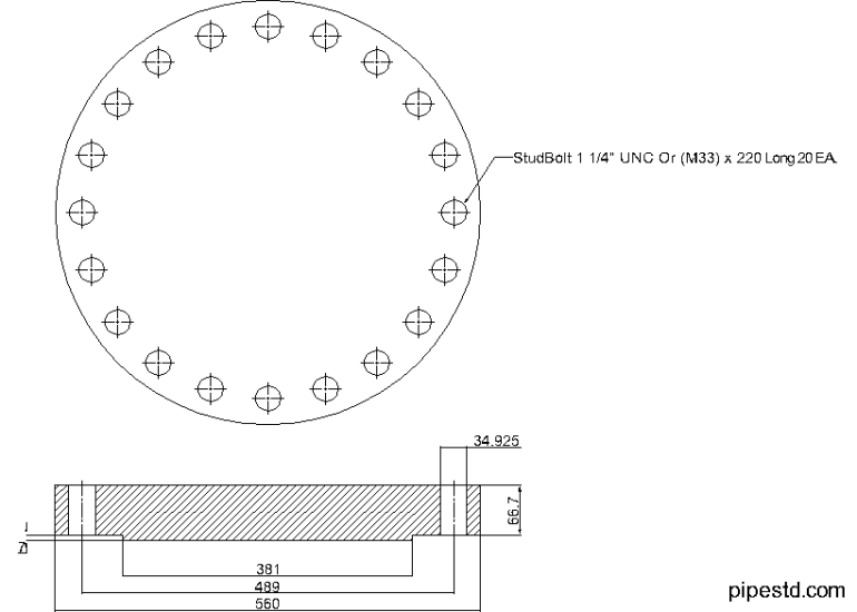Blind Flange 12 Inch Class 600