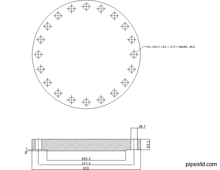 Blind Flange 16 Inch Class 400