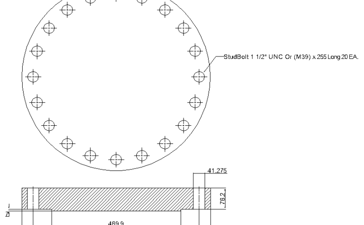 Blind Flange 16 Inch Class 600