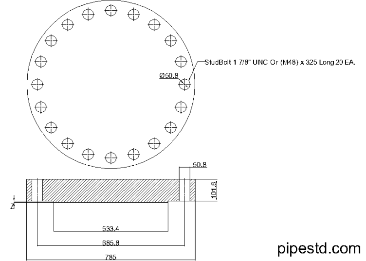 Blind Flange 18 Inch Class 900