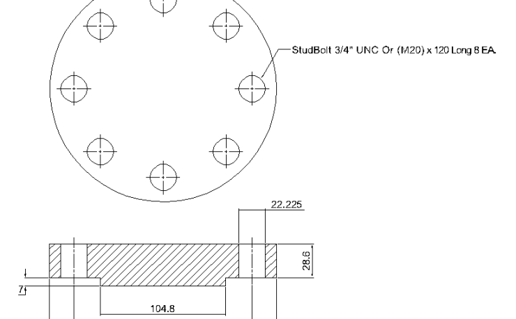Blind Flange 2 1/2 Inch Class 600