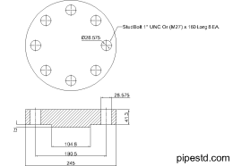 Blind Flange 2 1/2 Inch Class 900