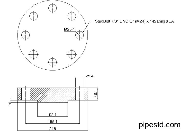 Blind Flange 2 Inch Class 900
