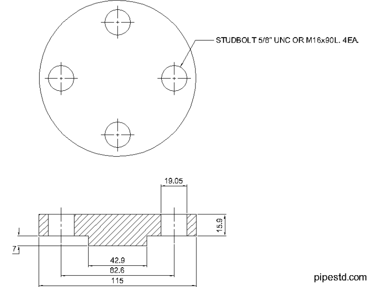 Blind Flange 3/4 Inch Class 400