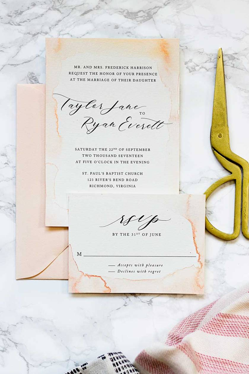 How To Paint Your Own Watercolor Wedding Invitations On A Budget And Make Them Look Like