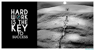Man-dragging-success-key-through-the-desert,-Motivational-quote.
