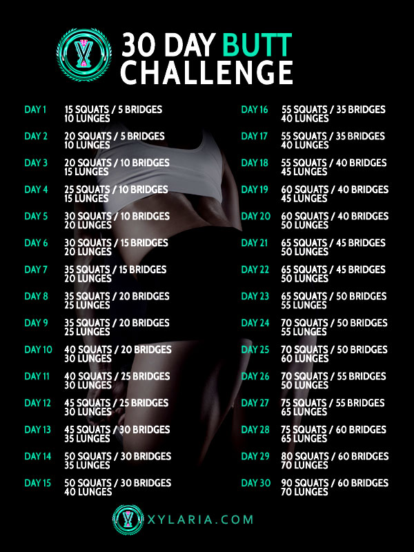 30 day butt challenge for women. Women workout in a gym. shaping her butt.