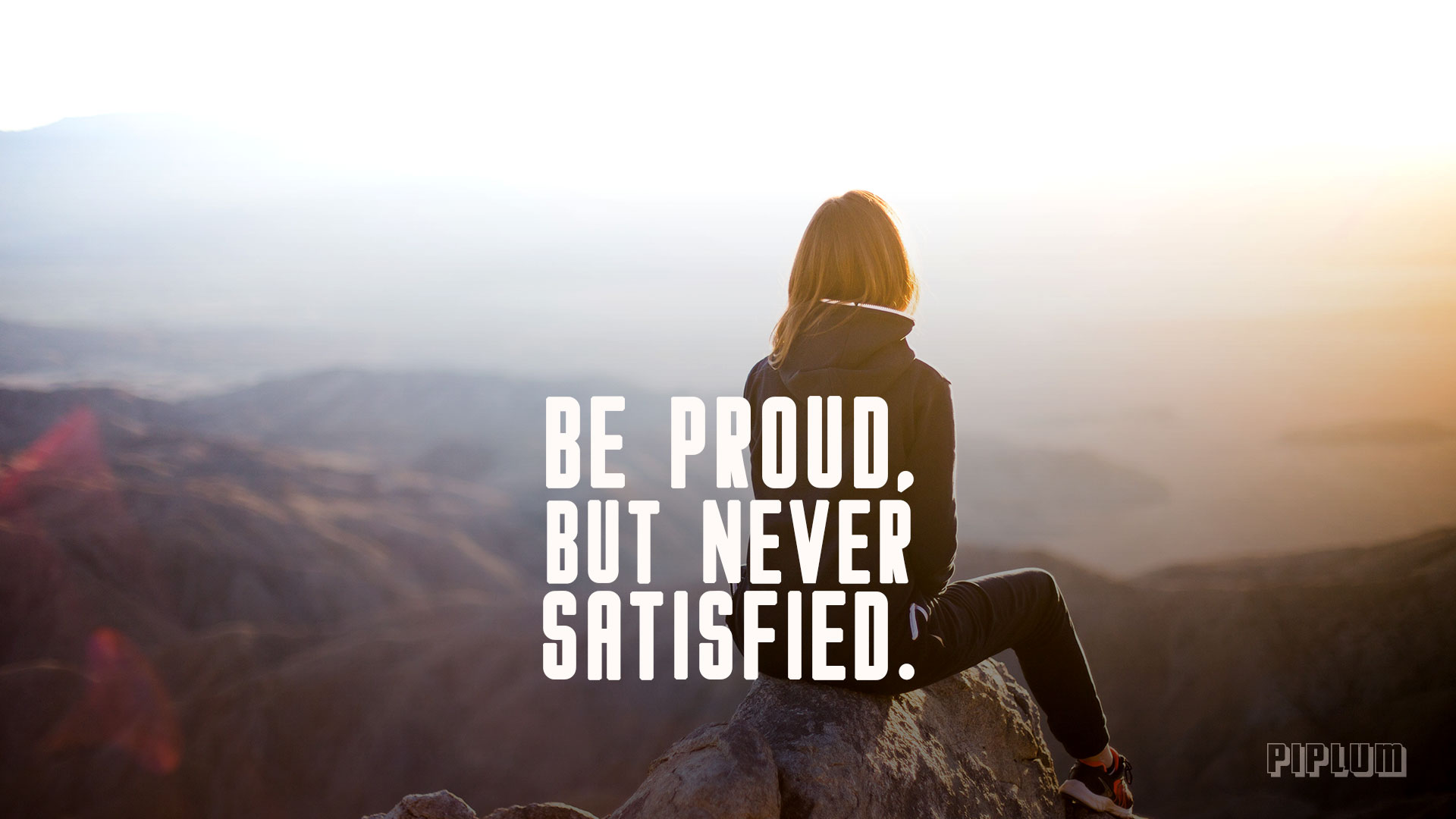 Be Proud But Never Satisfied Workout Quote Facebook Cover