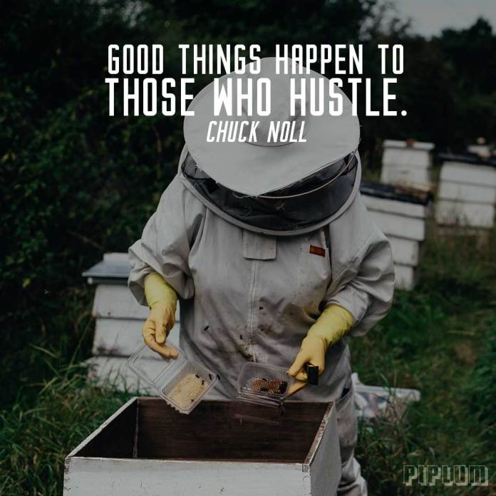 Work quote. The beekeeper takes honey.
