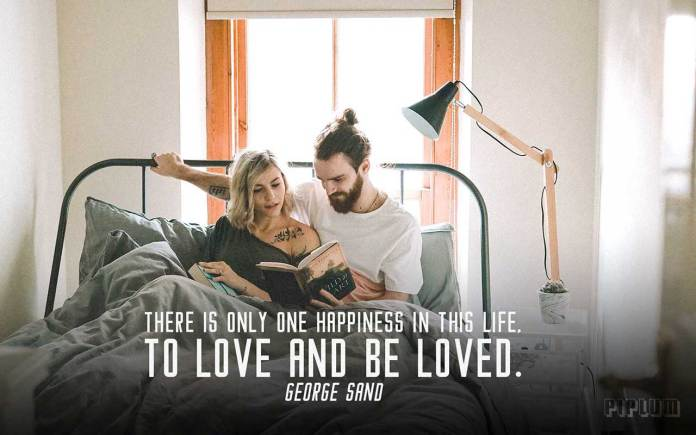 Love Quote. Facebook Cover. There is only one happiness in this life, to love and be loved. George Sand