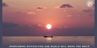 sunset-beach-ocean-Overcoming-difficulties-and-rivals-will-make-you-smile-motivational-quote