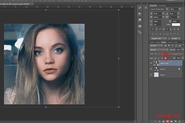 How-to-edit-selfie.Adjustemnt-layer-and-lock
