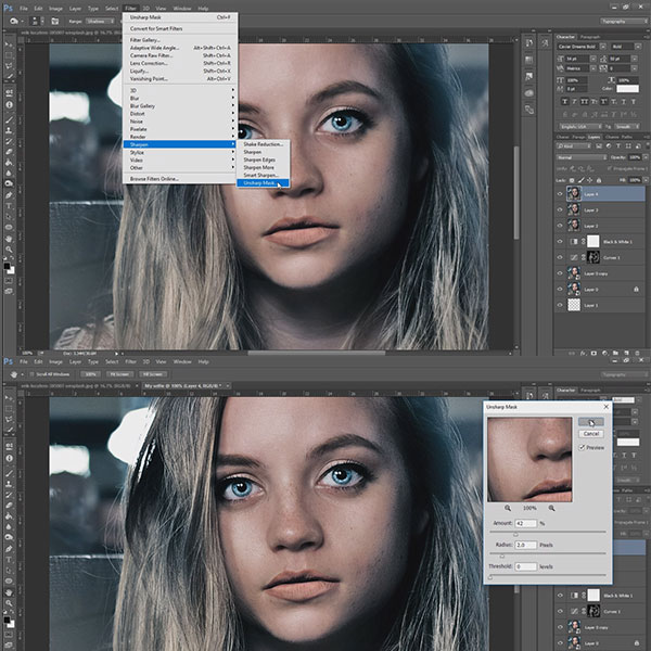 How to edit selfie like a pro. Tutorial.