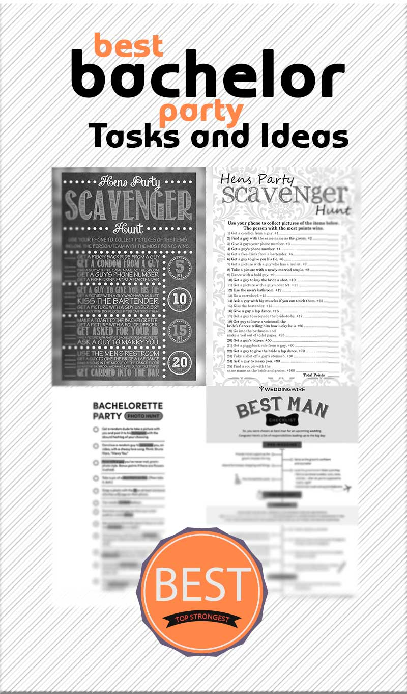 The Best Bachelor Party Tasks and Ideas. [+ 4 Printable Posters]