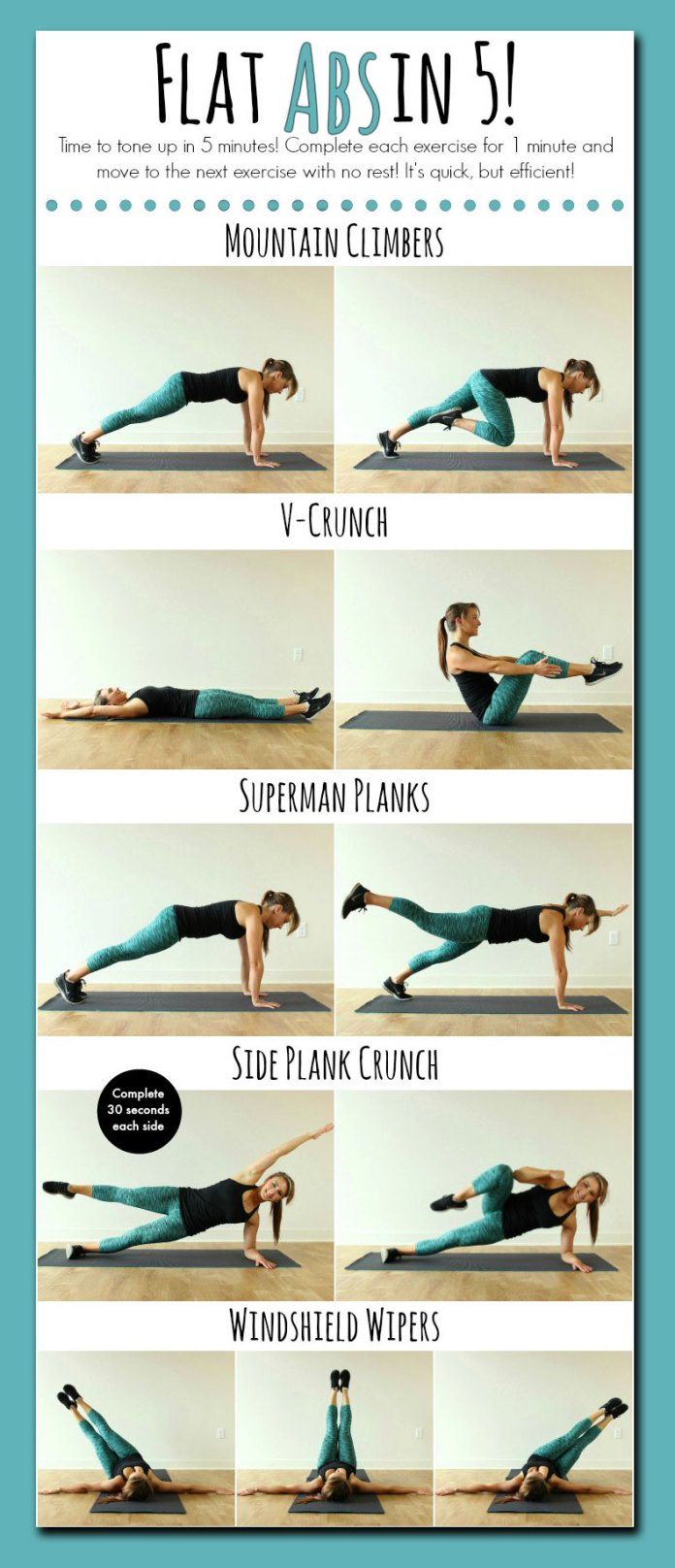 abs workout in 5 minutes. six pack exercises