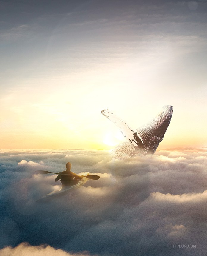 surreal-world.-Whale-in-the-sky-motivational-quotes-photo-manipulation-art