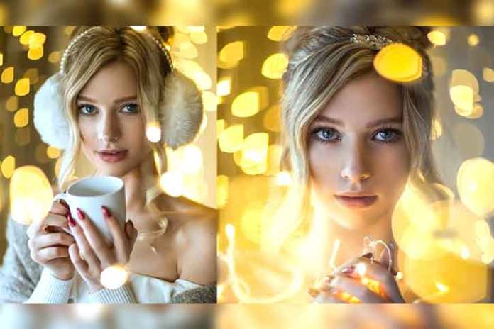 amazing-portrait-photography-for-christmas-yellow-and-gold-theme