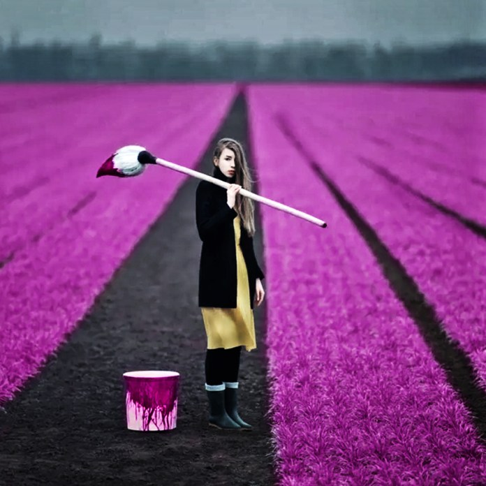 Simple Quote. Purple color fields.