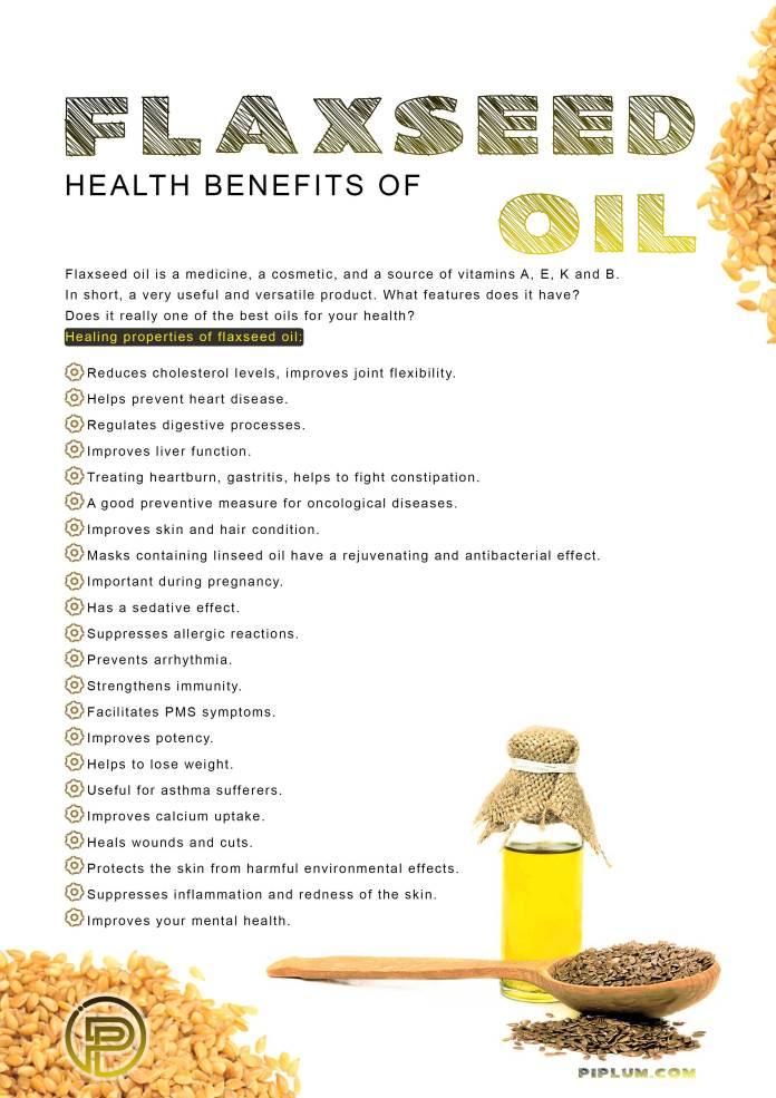 Health-benefits-of-flaxseed-oil-Healing-properties-best-oils-skin-poster