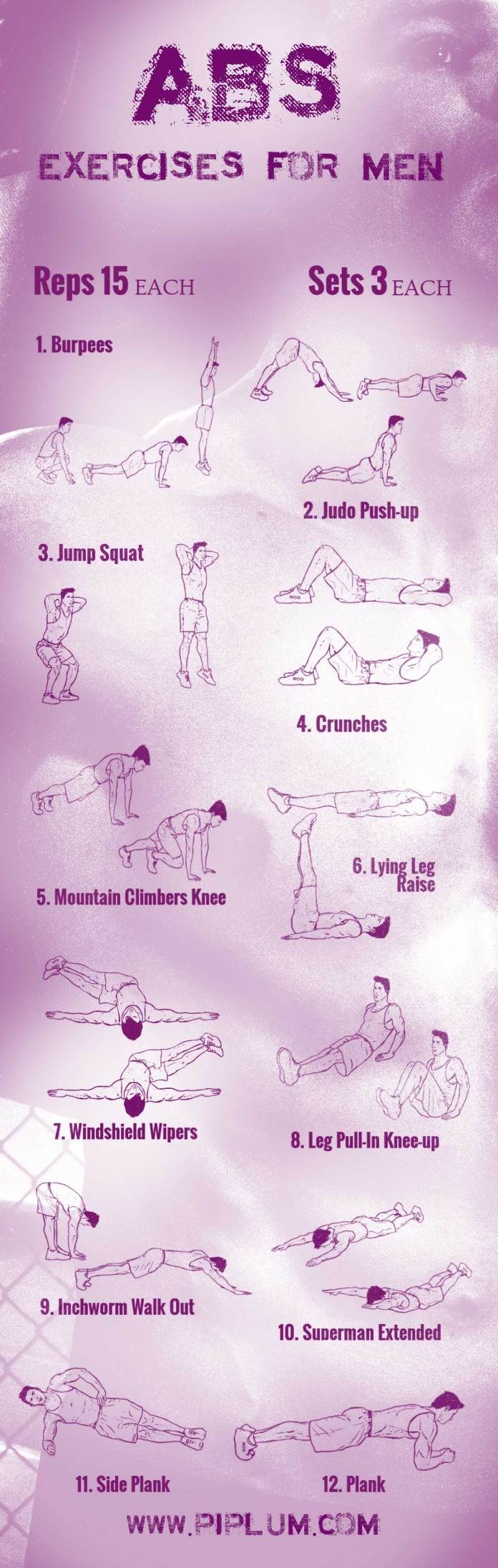 abs-exercises-for-men-poster