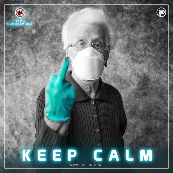 Old-women-shows-finger-to-coronavirus-positive-covid-19-quote
